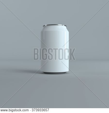 Aluminium Beer, Coke And Slim Soda Can Mock Up Blank Template. 3d Rendering. Isolated White Empty Mo