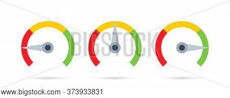 Speedometer. Feedback Concept. Rating Customer Satisfaction Meter. Colorful Speedometer Vector Icon,