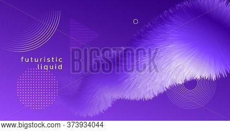 3d Fluid Vector. Flow Vibrant Movement. Graphic Pattern. Color Trendy 3d Fluid Vector. Creative Wave