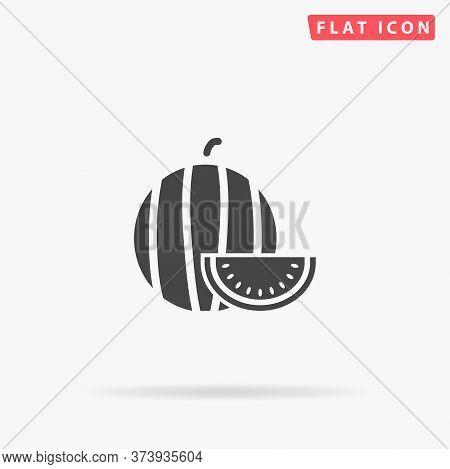 Watermelon Flat Vector Icon. Hand Drawn Style Design Illustrations.
