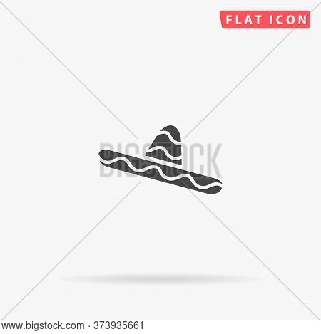 Big Mexican Hat, Sombrero Flat Vector Icon. Hand Drawn Style Design Illustrations.