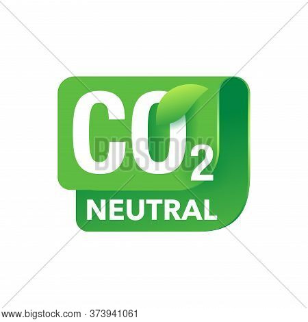 Co2 Neutral Emblem - Carbon Emissions Free Industrial Production Eco-friendly Isolated Stamp