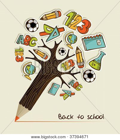 Back To School Pencil Tree