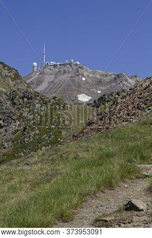 Tourmalet, France, June 24, 2020 : Col Du Tourmalet Is The Highest Paved Mountain Pass In The French