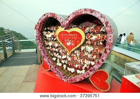 Love Messages On Victoria Peak