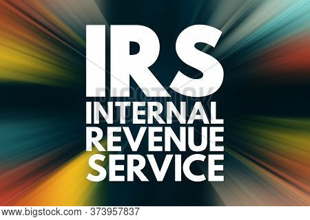 Irs - Internal Revenue Service Acronym, Business Concept Background