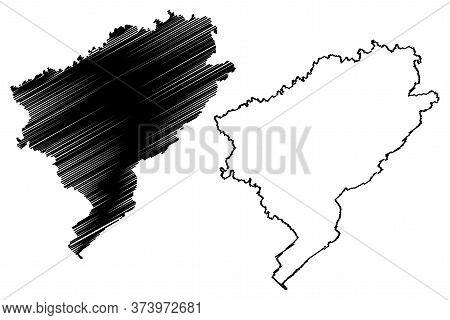 Doubs Department (france, French Republic, Bourgogne-franche-comte Region, Bfc) Map Vector Illustrat