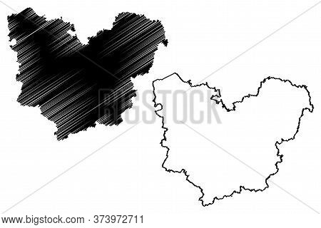 Eure Department (france, French Republic, Normandy Or Normandie Region) Map Vector Illustration, Scr