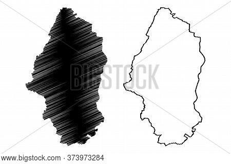 Haut-rhin Department (france, French Republic, Grand Est Region) Map Vector Illustration, Scribble S