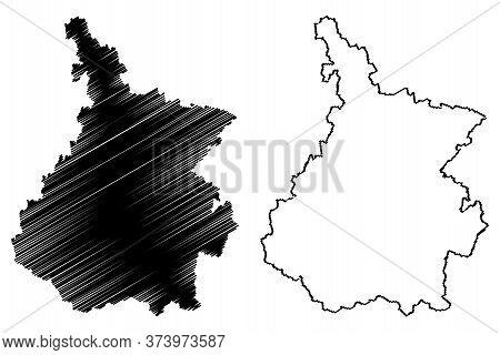 Hautes-pyrenees Department (france, French Republic, Occitanie Or Occitania Region) Map Vector Illus