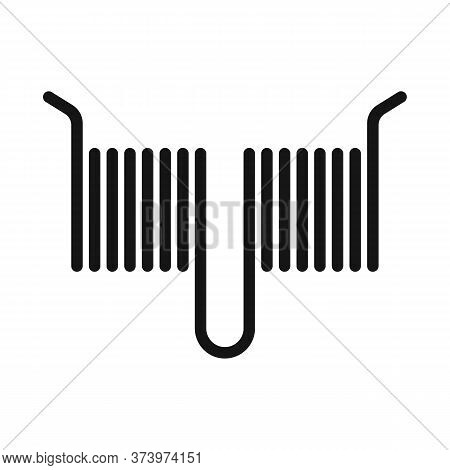 Vector Design Of Coil And Detail Icon. Graphic Of Coil And Metal Stock Vector Illustration.