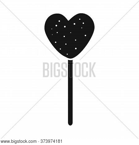 Vector Design Of Lollipop And Heart Logo. Web Element Of Lollipop And Sweet Vector Icon For Stock.