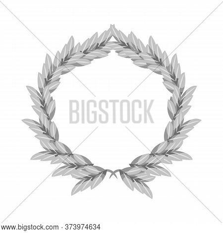 Vector Illustration Of Wreath And Barley Sign. Collection Of Wreath And Gold Vector Icon For Stock.