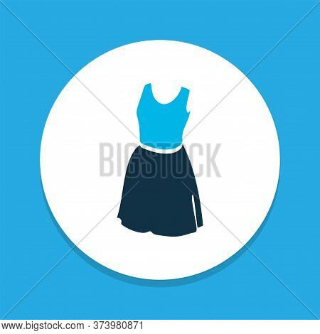 Sleeveless Dress Icon Colored Symbol. Premium Quality Isolated Sundress Element In Trendy Style.