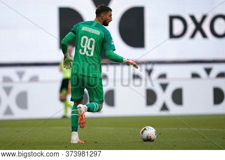 Milano (italy) 28th June 2020. Italian Serie A. Ac Milan Vs As Roma.  Gianluigi Donnarumma  Of Ac Mi