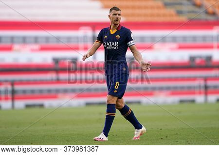 Milano (italy) 28th June 2020. Italian Serie A. Ac Milan Vs As Roma.  Edin Dzeko Of  As Roma  .