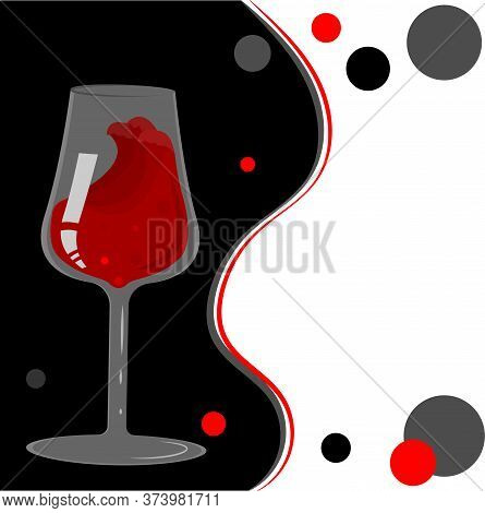The Division Of The Spiritual Into Black And White. A Glass Of Wine On The Dark Side.