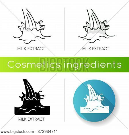 Milk Extract Icon. Protein Source. Natural Skincare. Organic Treatment Component. Beauty Lotion. Ant