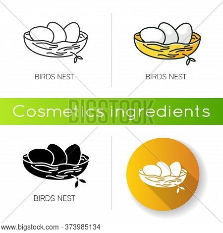 Birds Nest Icon. Chick Breeding. Skincare Product Component. Eggs For Easter. Life Birth. Ecology An
