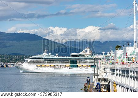 Vancouver, British Columbia / Canada - 06/13/2015. The Radiance Of The Seas Ship At Canada Place In