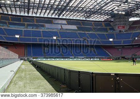 Milano (italy) 28th June 2020. Italian Serie A. Ac Milan Vs As Roma.  Giuseppe Meazza Stadium In San