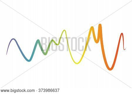Pulse Music Player. Audio Colorful Wave Logo. Color Equalizer Element. Isolated Design Symbol. Jpeg