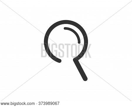Magnifier Loupe Icon. Zoom Magnifying Tool. Research Glass. Black Inspection Sign. Isolated Search L