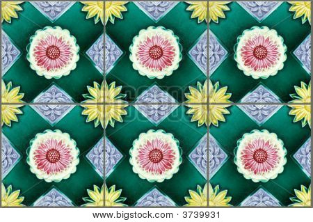 Nyonya Tiles With Sunflowers