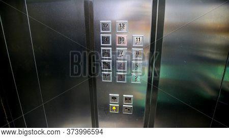 Salvador, Bahia / Brazil - June 28, 2020: Elevator Keys In A Condominium Building In The Cabula Neig