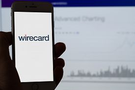 Guilherand-granges, France - June 27, 2020. Smartphone With Wirecard Logo. Wirecard Is A Payment Pro