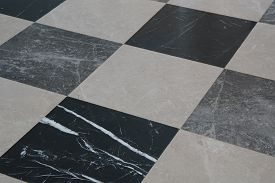 Gray Granite Floor Tiles For The Decoration Of The Bedroom