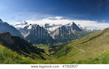 Eiger In Alps, Switzerland