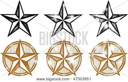 Distressed Western Stars Design Elements