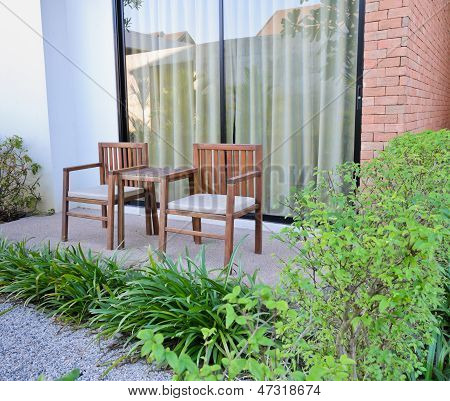 Outdoor Funiture With Garden