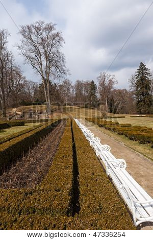 Park In Front Of The Castle Hluboka Nad Vltavou. Czech Republic 1