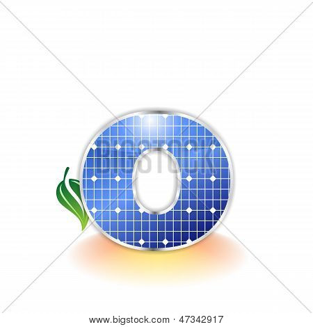 solar panels texture, alphabet lowercase letter o icon or symbol