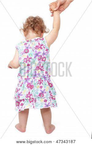 Babygirl Walking Isolated.