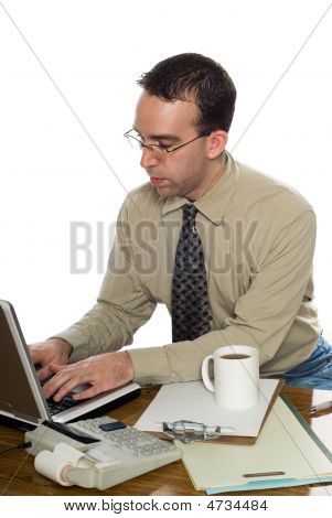 Office Worker Typing