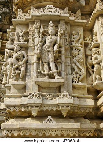 Sculpture In The Jain Temple, Udiapur India