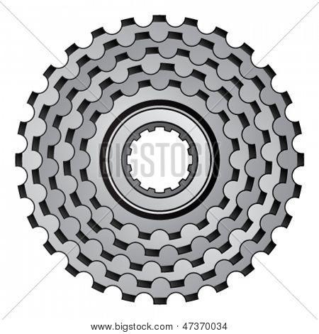 vector bicycle gear cogwheel sprocket icon