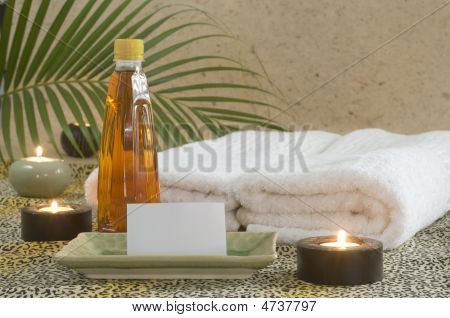 Massage Oil With Card Holder