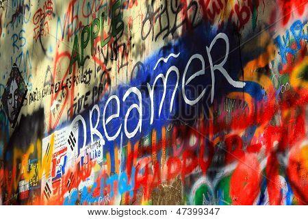 PRAGUE, CZECH REPUBLIC, 2012. Lennon Wall
