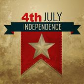 vector 4th of july american independence day poster
