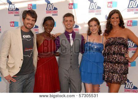 Mark Rembert, Jacqueline Murekatete, Wilfredo Perez Jr., Jessica Posner and Micaela Connery at the VH1 2010 Do Something Awards, Palladium, Hollywood, CA. 07-19-10