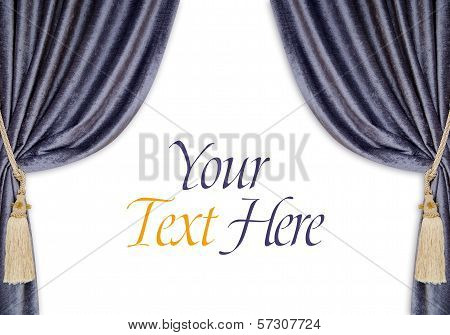 Velvet Curtains Background