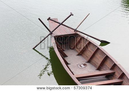 Sampan Boat From The Top