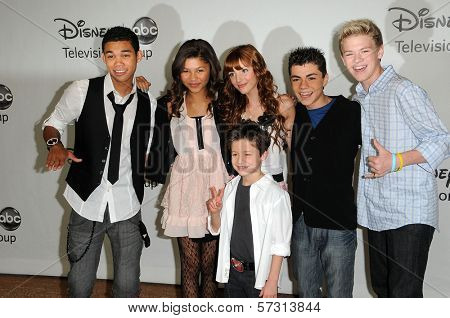 Roshon Fegan, Zendaya, Bella Thorne, Adam Irigoyen, Kenton Duty, Davis Cleveland at the Disney ABC Television Group Summer 2010 Press Tour - Evening, Beverly Hilton Hotel, Beverly Hills, CA. 08-01-10