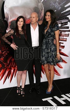 Rumor Willis, Bruce Willis and Wife Emma  at the