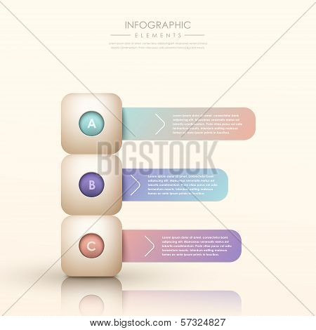 modern vector abstract gradient banner infographic elements poster