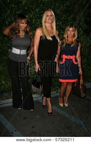 Traci Bingham and Gena Lee Nolin, Nicole Eggert at the Baywatch Reunion Dinner, XIV Restaurant,  West Hollywood, CA.  08-19-10